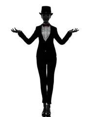 woman master of ceremonies presenter silhouette