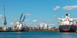Docking container ships in Rotterdam harbor - 71825143