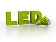 Leinwanddruck Bild - LED (Light Emitting Diode) lamp