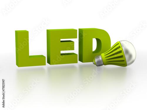 Leinwanddruck Bild LED (Light Emitting Diode) lamp