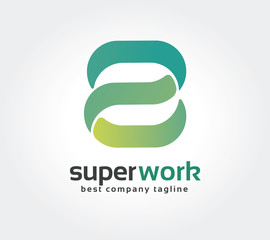 Abstract S  letter vector logo icon concept. Good as logotype