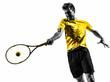 man tennis player portrait silhouette