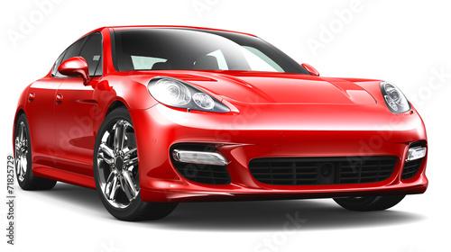 Red sport car - 71825729