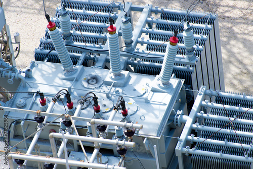 electrical power substation, transformers, insulators - 71825964
