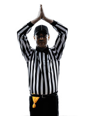 american football referee gestures safety silhouette