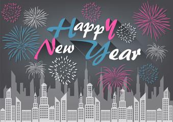 Happy New Year Celebration Background