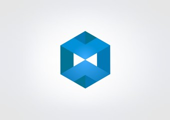 Logo Business abstract Symbol Kube box icon Buildin