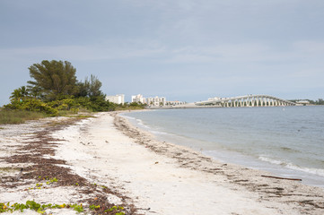 Sanibel Island with Causeway in background, Florida