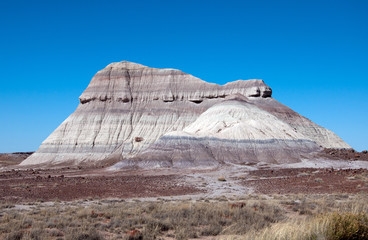 A colorful mesa in the painted desert.