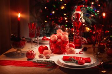 table for Christmas Eve