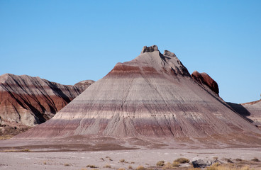 Colorful mesas in the painted desert of Arizona.