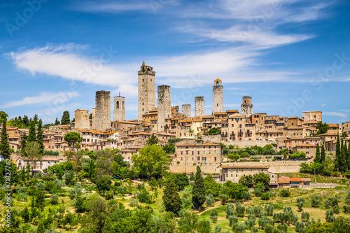 Fototapety, obrazy : Medieval town of San Gimignano, Tuscany, Italy