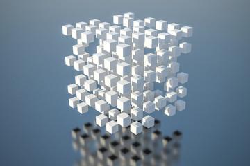 立方体 抽象 3D