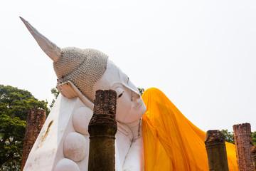 Reclining Buddha in Wat khun Inthapramul,Thailand
