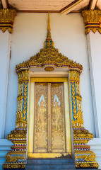 Thai tample door ,Ratchaburi ,Thailand
