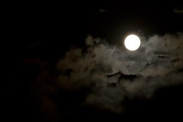 moon on the night sky
