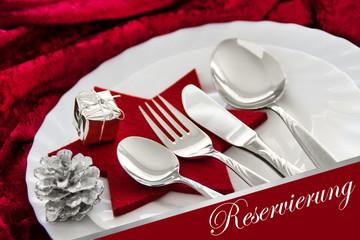 Weihnachten - Reservierung