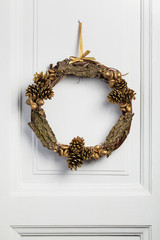 Decorated twig wreath