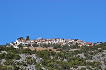 View of the town of Trikeri, Pelion, Greece