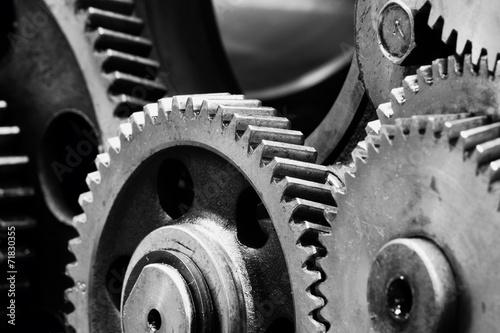 Fotobehang Industrial geb. gears-machinery