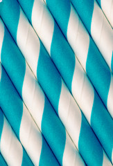 Blue and white paper straw background