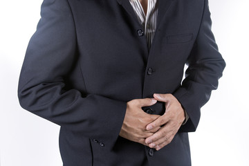 Businessman suffering from a stomach