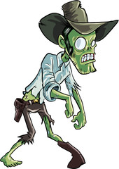 Cartoon zombie cowboy