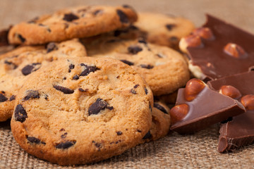 American cookies with chocolate chips