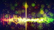 rainbow equalizer loopable paty background