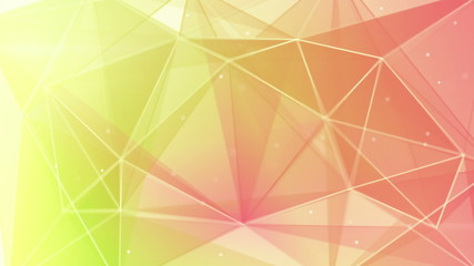 abstract triangle geometrical green pink background loop