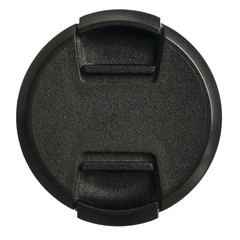 Lens cap on a white background
