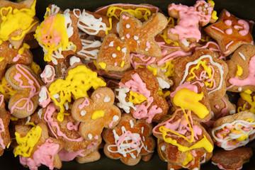 homemade gingerbread as nice christmas background