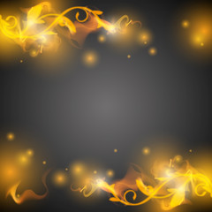 abstract background vector with fire