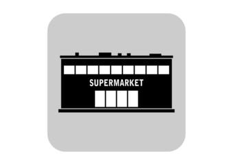 Supermarket vector icon