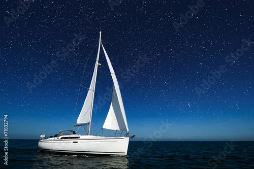 Fototapeta Boot bei Nacht