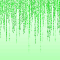 background of a green matrix of  binary figures