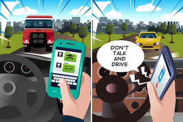 """Concept of """"don't text and drive"""" and """"don't talk and drive"""""""
