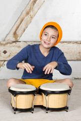 boy with a drum