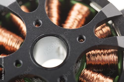 Leinwanddruck Bild Brushless Motor Close Up.