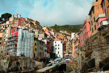 Cinque terre village of Riomaggiore