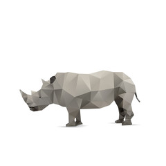 Abstract rhino isolated on a white backgrounds