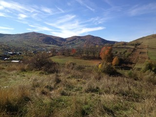 Autumn landscape in Romanian Carpathians