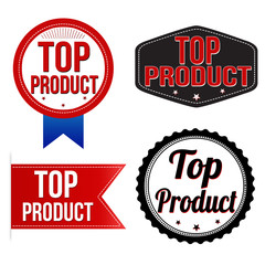 Top product label, sticker or stamps