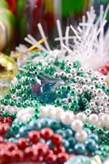 christmas decoration with diamonds, new year decoration