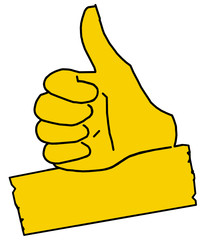 tus12 ThumbUpSign tus-v0 Daumen hoch - minus10grad - gelb g2112
