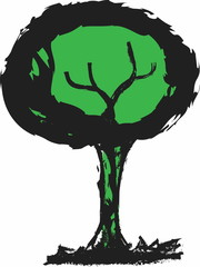 doodle eco green tree