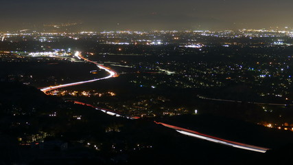 San Fernando Valley Mountain View Dusk to Night Time Lapse