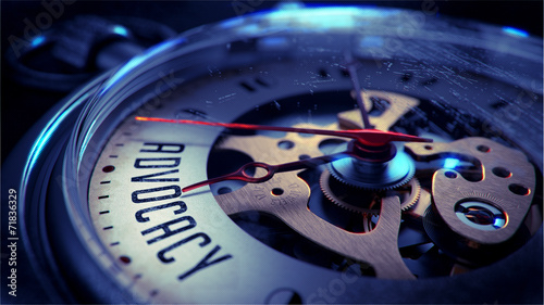 canvas print picture Advocacy on Pocket Watch Face.