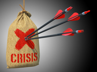 Crisis - Arrows Hit in Red Mark Target.