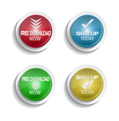 round download and signup buttons